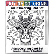 "Artistic Animals - Joy Of Coloring Adult Coloring Card Set 4""X5.5"""