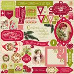 Classic Christmas Details Sticker Sheet - Authentique