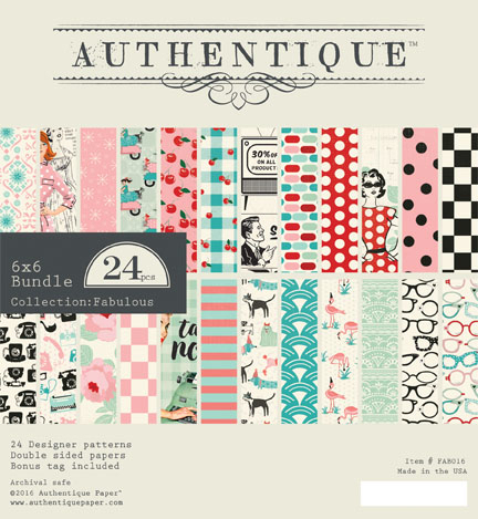 Fabulous 6 x 6 Paper Pad - Authentique