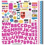 "Fundamentals - Addison Cardstock Stickers 12""X12"""