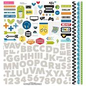 "Fundamentals - Alex Cardstock Stickers 12""X12"""