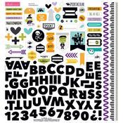 """Spooktacular Fundamentals Stickers 12""""X12"""""""
