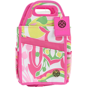 "7.25""X7.25""X15.75"", Pink & Green - Storage Studios Macbeth Spinning Craft Tote"