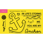 """Life Anchor - Waffle Flower Crafts Clear Stamps 2""""X3"""""""