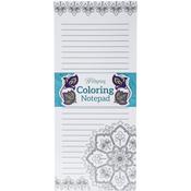 "Medallion - Coloring Notepad 4""X9"" 40 Sheets"