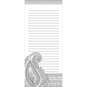 """Paisley - Coloring Notepad 4""""X9"""" 40 Sheets"""