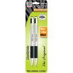 Black - F-301 Stainless Steel Ballpoint Pen 1.6mm 2/Pkg