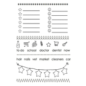 """Banner - SRM Planner Clear Stamps 4""""X6"""""""