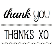 """Thank You - SRM BIG Sentiment Clear Stamps 4""""X6"""""""
