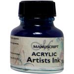 Blue - Manuscript Acrylic Artists Ink 30ml