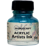 Turquoise - Manuscript Acrylic Artists Ink 30ml