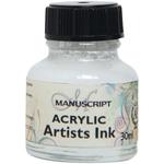 White - Manuscript Acrylic Artists Ink 30ml
