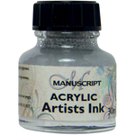 Metallic Silver - Manuscript Acrylic Artists Ink 30ml