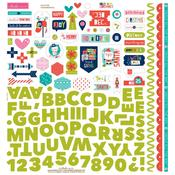 Holly Jolly Christmas Fundamentals Sticker Sheet - Bella Blvd
