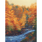 """12""""X16"""" 16 Count - Autumn Stream Counted Cross Stitch Kit"""
