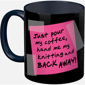 Knittig - Knit Happy Back Away Mug 11oz