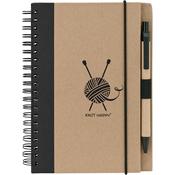 Black - Knit Happy Eco Journal W/Pen