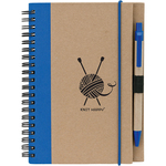 Blue - Knit Happy Eco Journal W/Pen