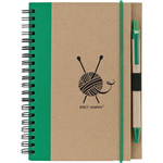 Green - Knit Happy Eco Journal W/Pen