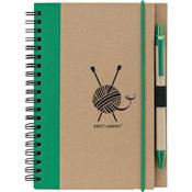 Green - Knit Happy Eco Journal W/Pen
