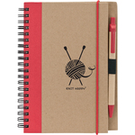 Red - Knit Happy Eco Journal W/Pen