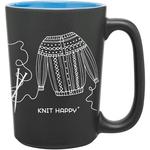 Blue - Knit Happy Scribbles Mug 10oz