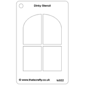 "Arched Window - That's Crafty Dinky Stencil 3""X4.75"""