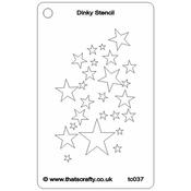 "Star Shower - That's Crafty Dinky Stencil 3""X4.75"""