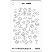 "Screwheads - That's Crafty Dinky Stencil 3""X4.75"""