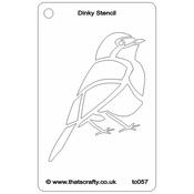 "Robin - That's Crafty Dinky Stencil 3""X4.75"""