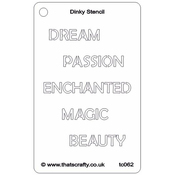 "Enchanted - That's Crafty Dinky Stencil 3""X4.75"""