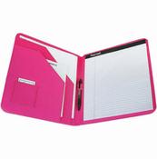 Pink - Padfolio Diamond Debossed Fashion Color Pad Holder