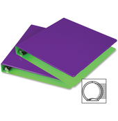 """Purple/Lime - Fashion Color Two-Tone Round Ring View Binder 1"""" 2/Pkg"""