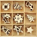 Festive - Wood Flourishes 45/Pkg