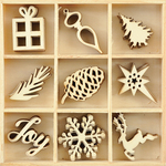 Joy - Wood Flourishes 45/Pkg
