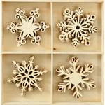 Snowflakes - Wood Flourishes 20/Pkg
