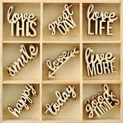 Little Words - Wood Flourishes 45/Pkg