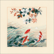 """15.75""""X15.75"""" 14 Count - Dancing Fish Counted Cross Stitch Kit"""