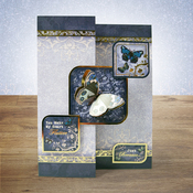 Sapphire Moments - Hunkydory Flight Of The Butterflies Jewelled A4 Topper Set