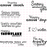 "Snowy - C.C. Designs Clear Sentiments Stamps 4""X6"""