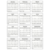 2017 - SRM Mini Standard Calendar Stickers