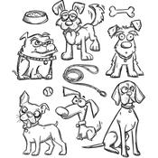 Crazy Dogs Tim Holtz Cling Stamps