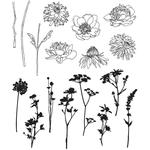 Mini Bouquet Tim Holtz Cling Rubber Stamp