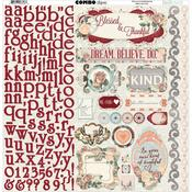 Bella Rosa Combo Sticker Sheet - Bo Bunny