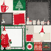 Father Christmas Paper - Merry & Bright - Bo Bunny