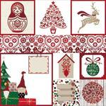 Merry & Bright Foil Vellum Paper - Bo Bunny