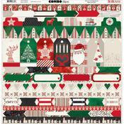 Merry & Bright Combo Sticker Sheet - Bo Bunny