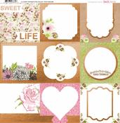 Sweet Moments Foil Vellum Paper - Bo Bunny