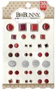 Ruby Red Brads - Double Dot - Bo Bunny