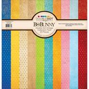 Double Dot 12 x 12 Vintage Chevron Collection Pack - Bo Bunny